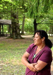 Elizabeth Brass Elson at Camp Nibi. Photo courtesy: Hayden King